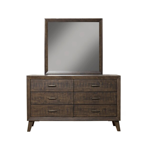 Dory 6 Drawer Double Dresser with Mirror by Modern Rustic Interiors