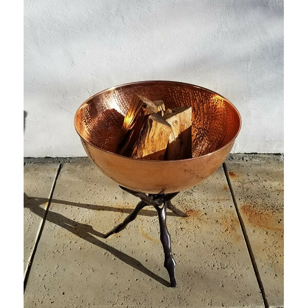 Hammered and Collapsible Branch Stand Cast Iron Wood Burning Fire Pit Table by Starlite Garden and Patio Torche Co.