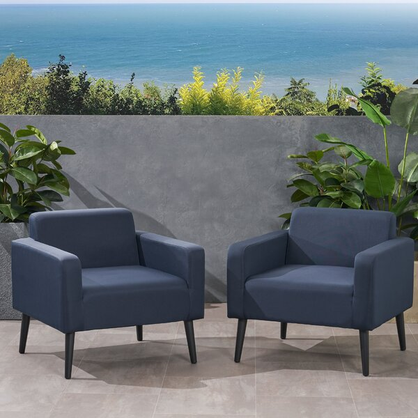 Rosalinda Patio Chair with Cushions (Set of 2) by Corrigan Studio Corrigan Studio