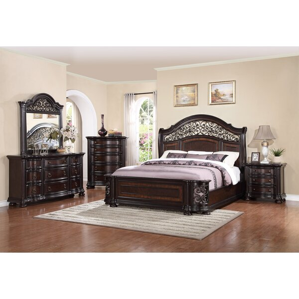 Design Winkelman King Standard 4 Piece Bedroom Set By Fleur De Lis Living Coupon