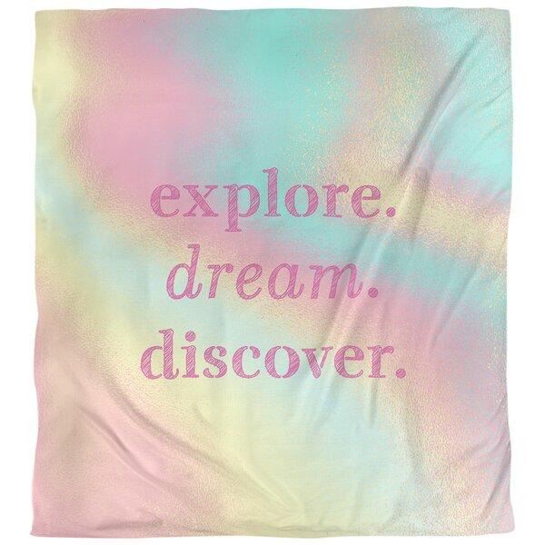 Quotes Explore Dream Discover Single Reversible Duvet Cover