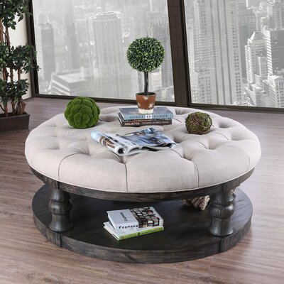 Amstel Farmhouse Tufted Coffee Table Reviews Birch Lane