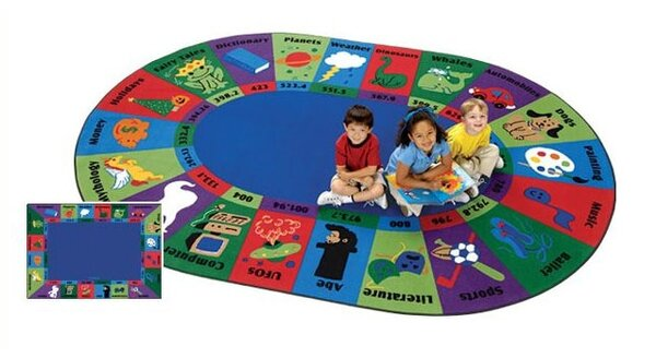 Emilion Dewey Decimal Fun Area Rug by Zoomie Kids