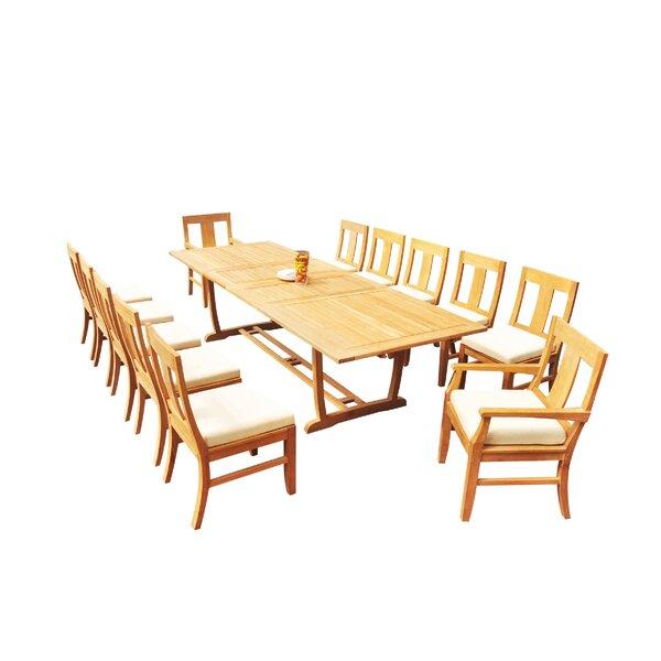 Mas 13 Piece Teak Dining Set by Teak Smith