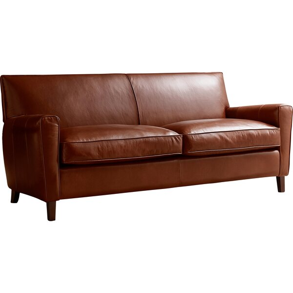 Get Great Deals Foster Leather Sofa by AllModern Custom Upholstery by AllModern Custom Upholstery