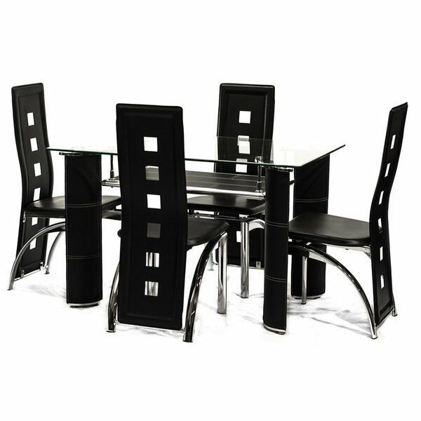 Bracondale 5 Piece Dining Set by Orren Ellis