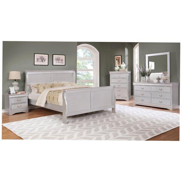 Caterina Queen Sleigh 5 Piece Bedroom Set by House of Hampton