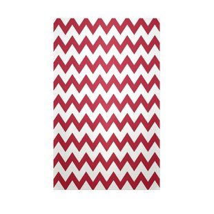 Chevron Red Indoor/Outdoor Area Rug By e by design