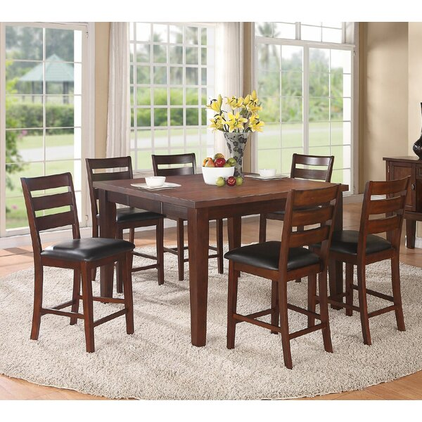 Bargain Kaneshiro 7 Piece Counter Height Dining Set By Alcott Hill Top Reviews