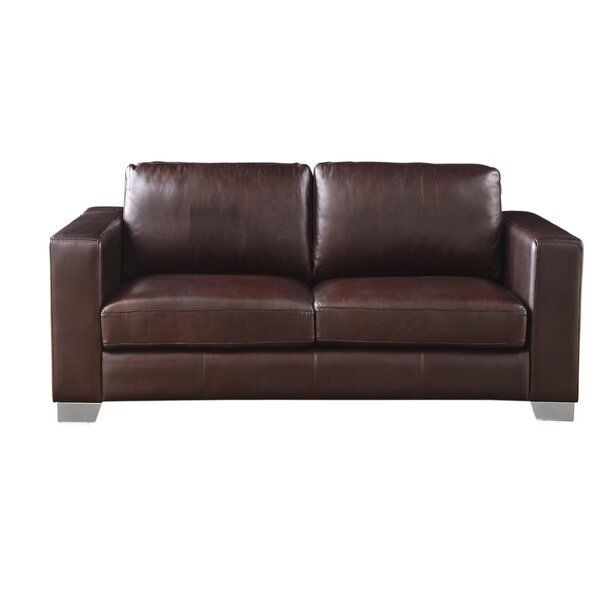 Kuhn Leather Loveseat by Brayden Studio