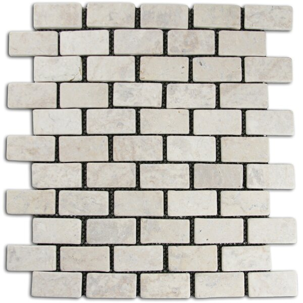 Cumberland 1 x 2 Natural Stone Mosaic Tile in Cream by CNK Tile
