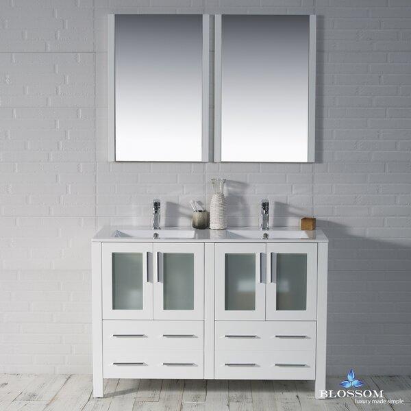 Mance 47 Double Bathroom Vanity Set with Mirror by Orren Ellis