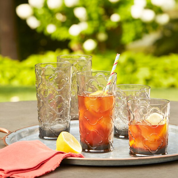 Riviera Plastic Highball Glasses (Set of 6) by Birch Lane™