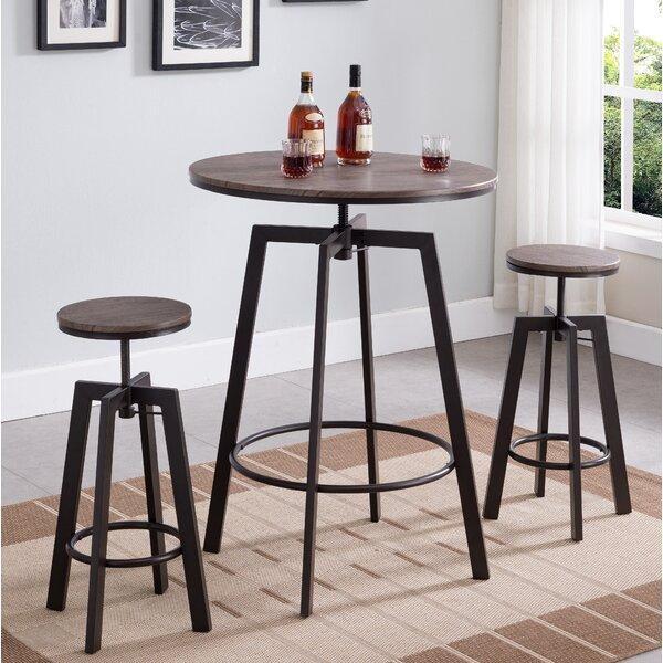 Vella 3 Piece Adjustable Pub Table Set by Williston Forge