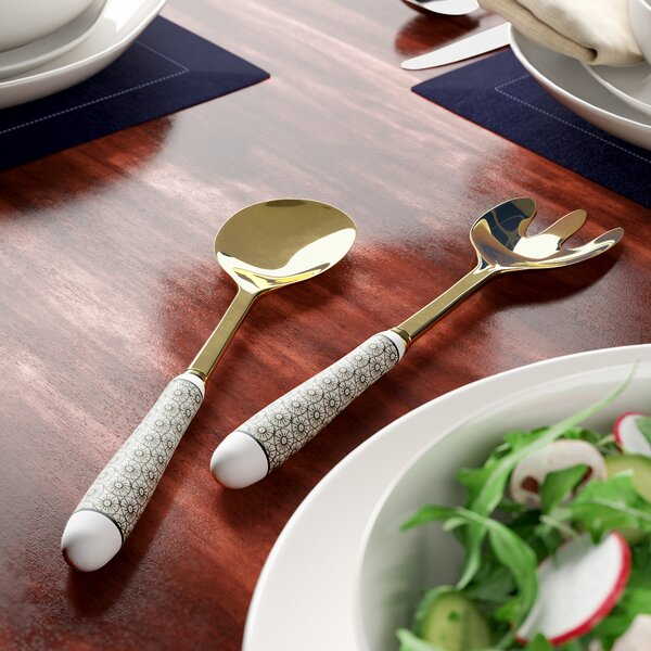 Dillon Stainless Steel Stoneware 2 Piece Salad by Mint Pantry