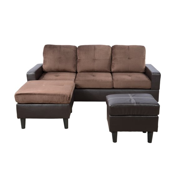 Straka Reversible Sectional with Ottoman by Ebern Designs