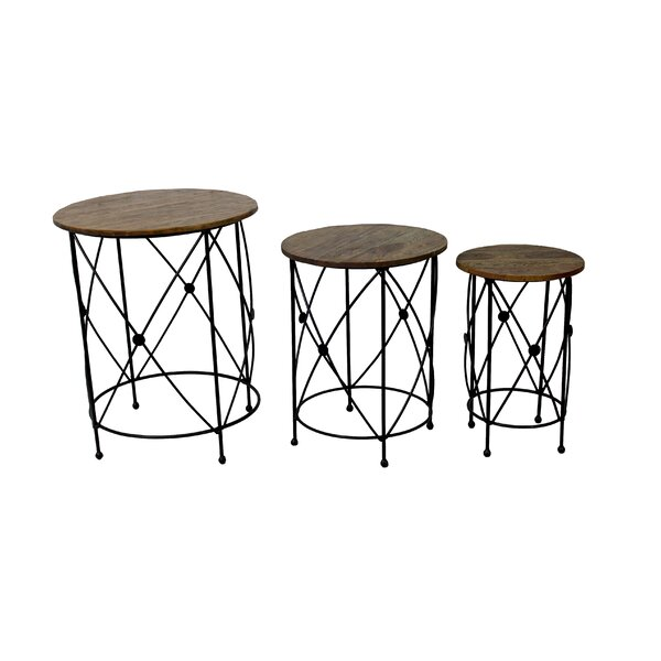 Cullens 3 Piece Nesting Tables by Fleur De Lis Living