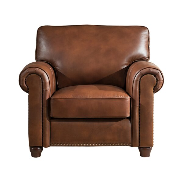 Kiaan Leather Club Chair by Darby Home Co