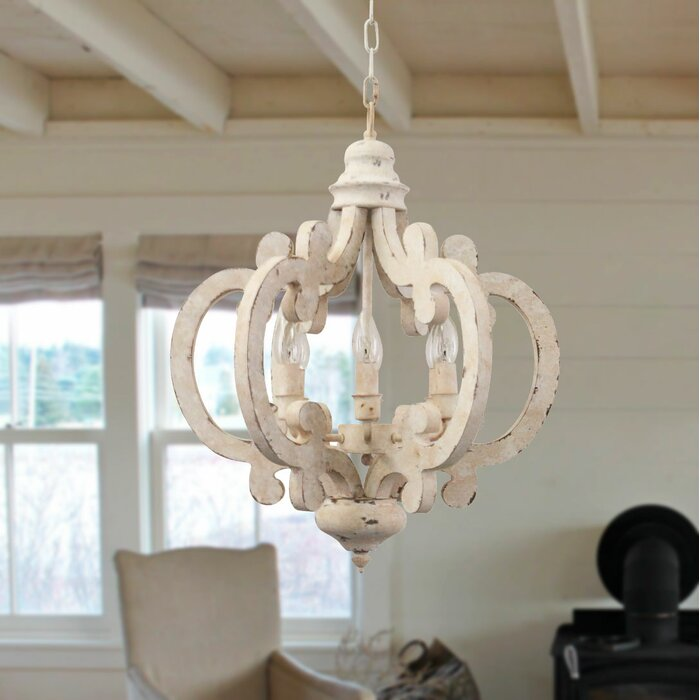 Kacie Cottage Crown 6 Light Lantern Geometric Chandelier