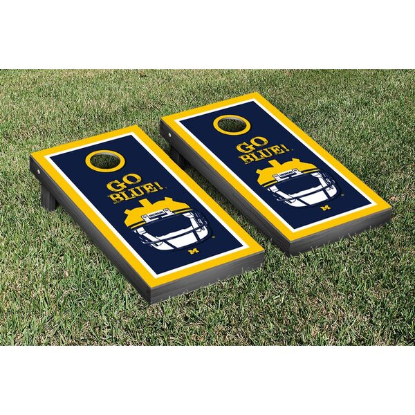 NCAA Michigan Wolverines Go Blue Version Cornhole Game Set by Victory Tailgate