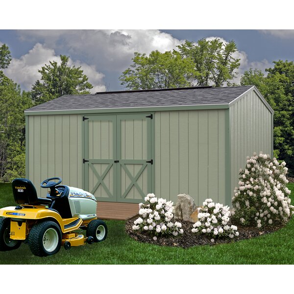 Cypress 10 ft. W x 16 ft. D Solid Wood Storage Shed by Best Barns