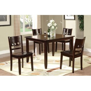 Clardy 5 Piece Solid Wood Dining Set By Winston Porter
