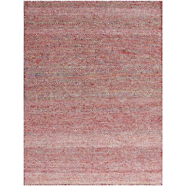 Onasander Hand-Tufted Red Area Rug by Wrought Studio