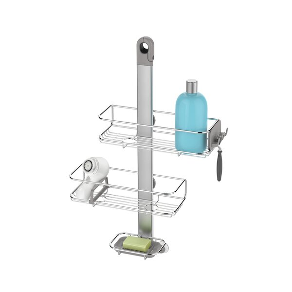 Adjustable Shower Caddy, Stainless Steel + Anodized Aluminum by simplehuman