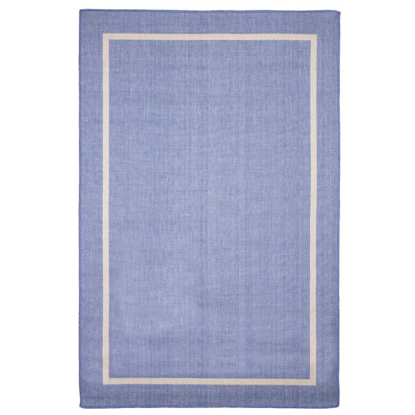 Border Blue Indoor/Outdoor Area Rug by Plymouth Home