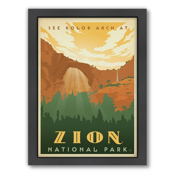 Zion Framed Vintage Advertisement by East Urban Home
