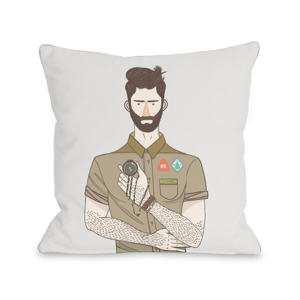 Boyscout Throw Pillow by One Bella Casa
