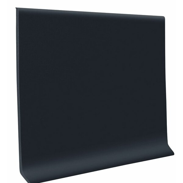 0.08 x 48 x 4 Cove Molding in Black (Set of 30) by ROPPE