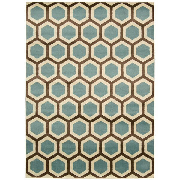 Severin Ivory/Blue Rug by Wrought Studio