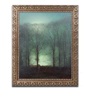 Figure in the Moonlight by John Grimshaw Framed Painting Print by Trademark Fine Art