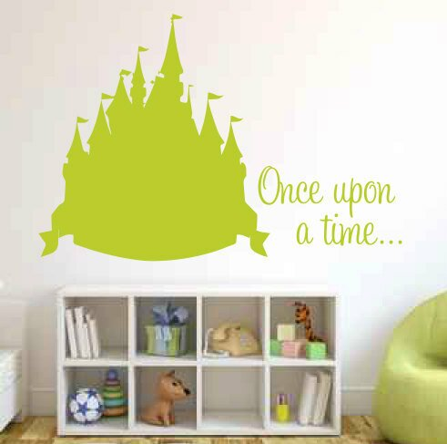 Akers Once Upon A Time With Castle Wall Decal by Zoomie Kids