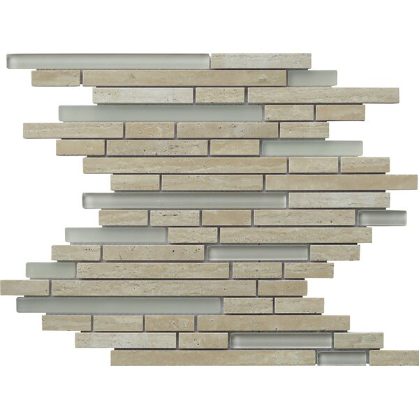 Eternity Random Sized Natural Stone Mosaic Tile in Tan by Intrend Tile