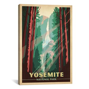'Art and Soul of America National Parks Collection: Yosemite National Park (Yosemite Falls)' Vintage Advertisement by East Urban Home