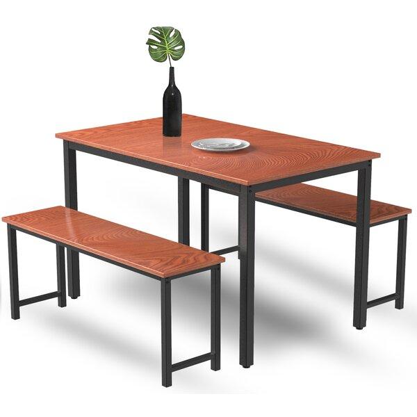 latitude run® dining table sets 3 pieces farmhouse kitchen