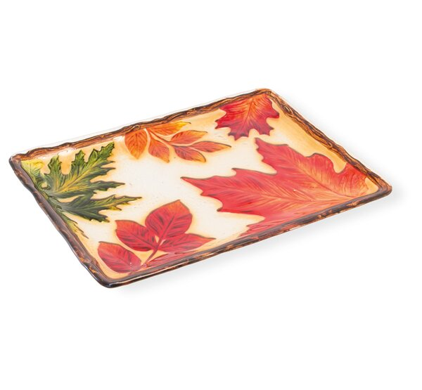 Danton Leaf Rectangle Platter by The Holiday Aisle