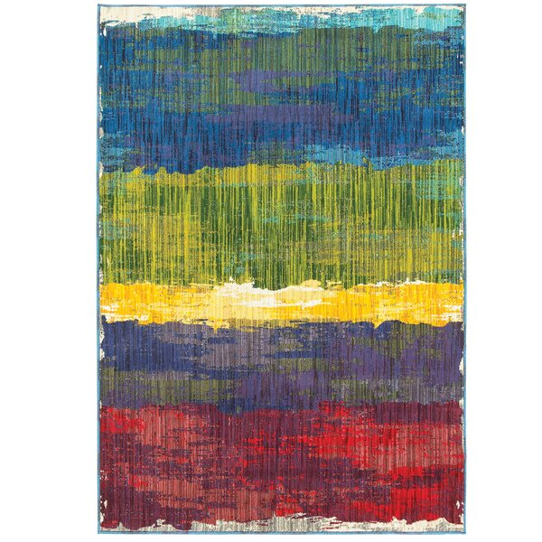 Rarick Red/Blue/Yellow Area Rug by Latitude Run