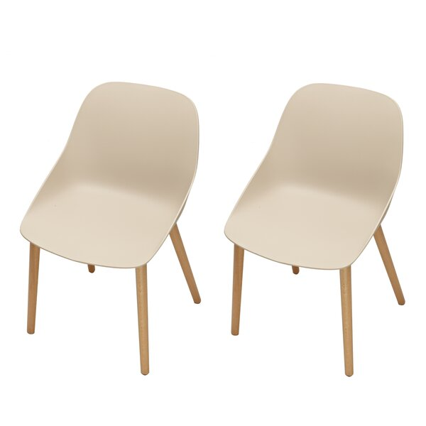 Sanor Beechwood Dining Chair (Set of 2) by Latitude Run