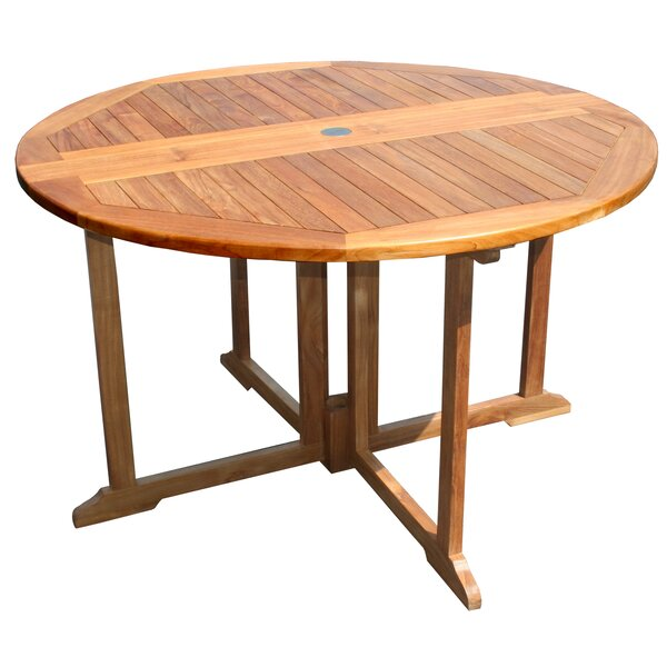 Warner Folding Wooden Dining Table by Bayou Breeze