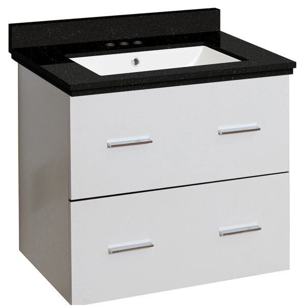 Phoebe Drilling Wall Mount 24 Single Bathroom Vanity Set with Undermount Sink by Orren Ellis