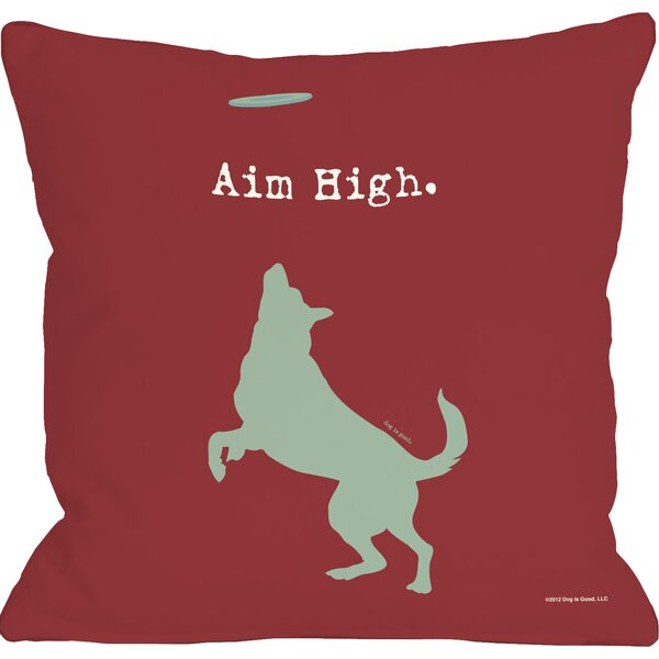 Basher Aim High Dog Throw Pillow by Archie & Oscar
