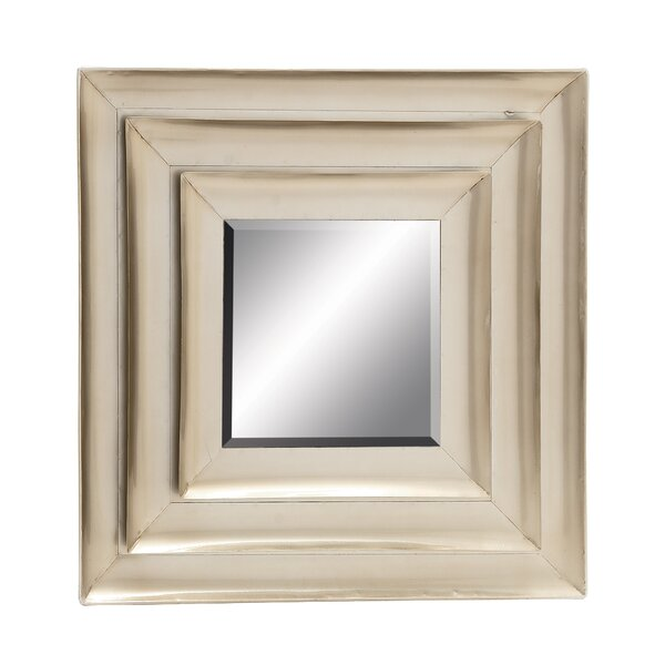 Distinctive and Captivating Metal Wall Mirror by Cole & Grey