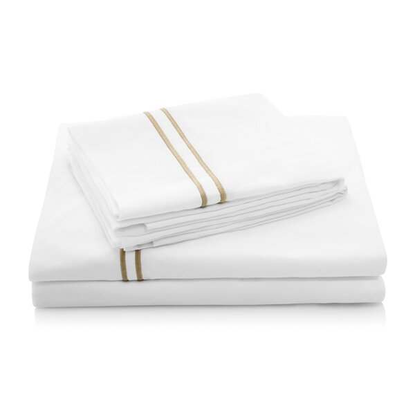 200 Thread Count Percale Bed Sheet Set by Alwyn Home