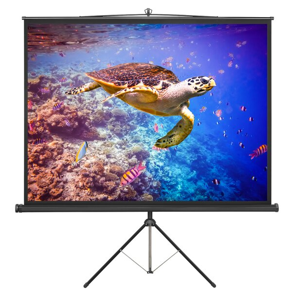 84 Portable Tripod Projection Screen by VonHaus
