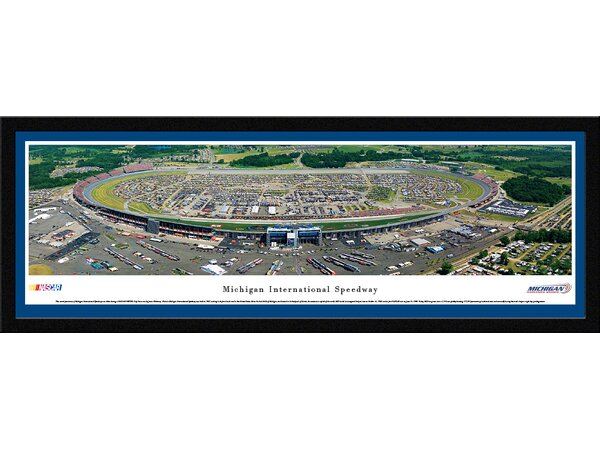 NASCAR Michigan International Speedway by James Blakeway Framed Photographic Print by Blakeway Worldwide Panoramas, Inc