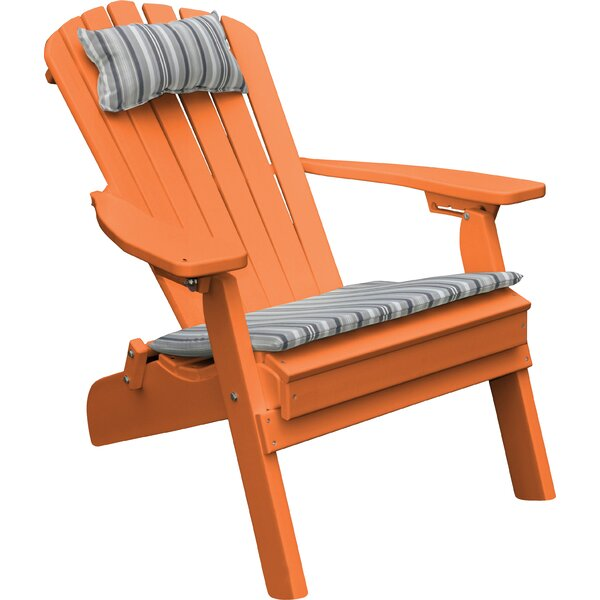 Plastic Folding Adirondack Chair by A&L Furniture