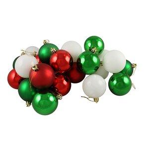 24 Piece Shatterproof Christmas Ball Ornament Set
